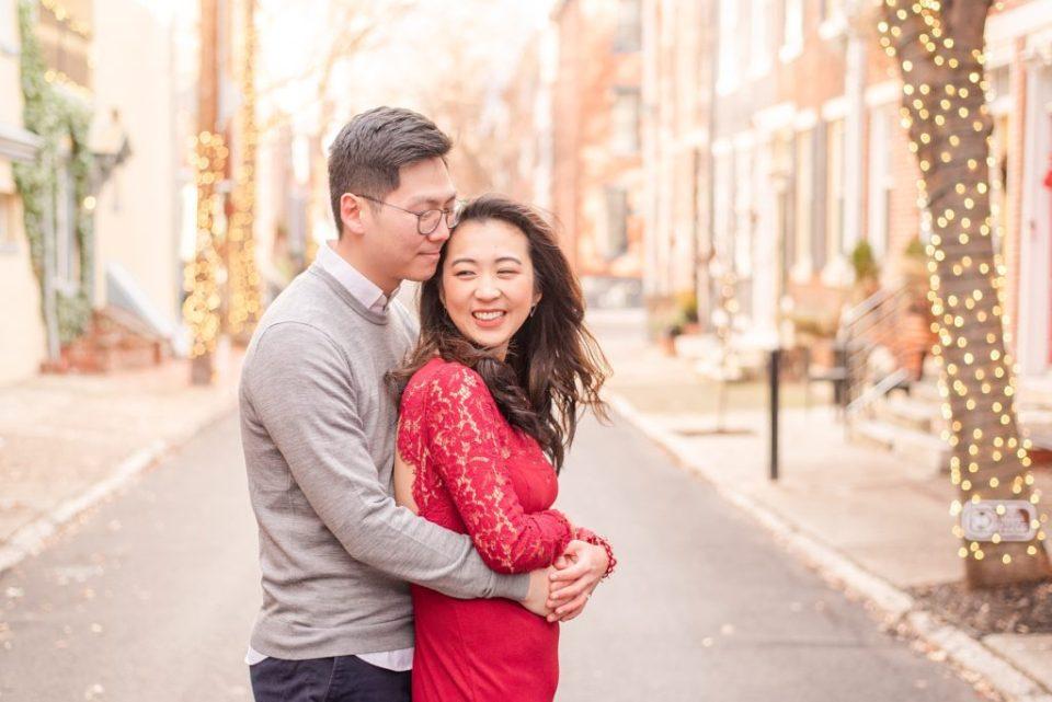 romantic winter engagement photos in Philadelphia PA by Renee Nicolo Photography
