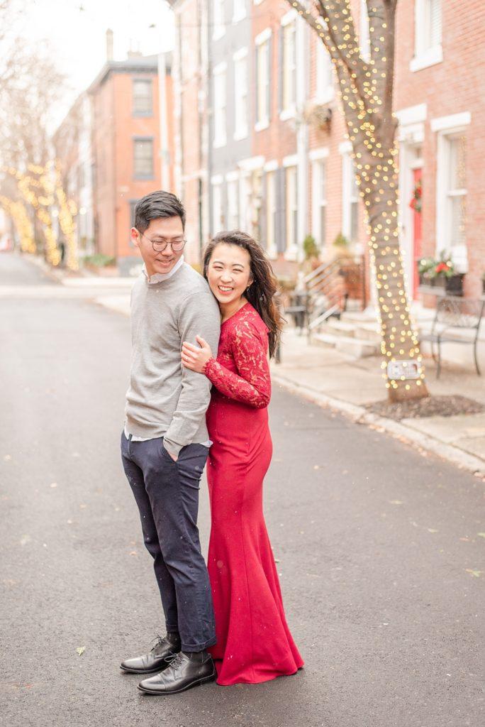 winter engagement photos with PA wedding photographer Renee Nicolo Photography