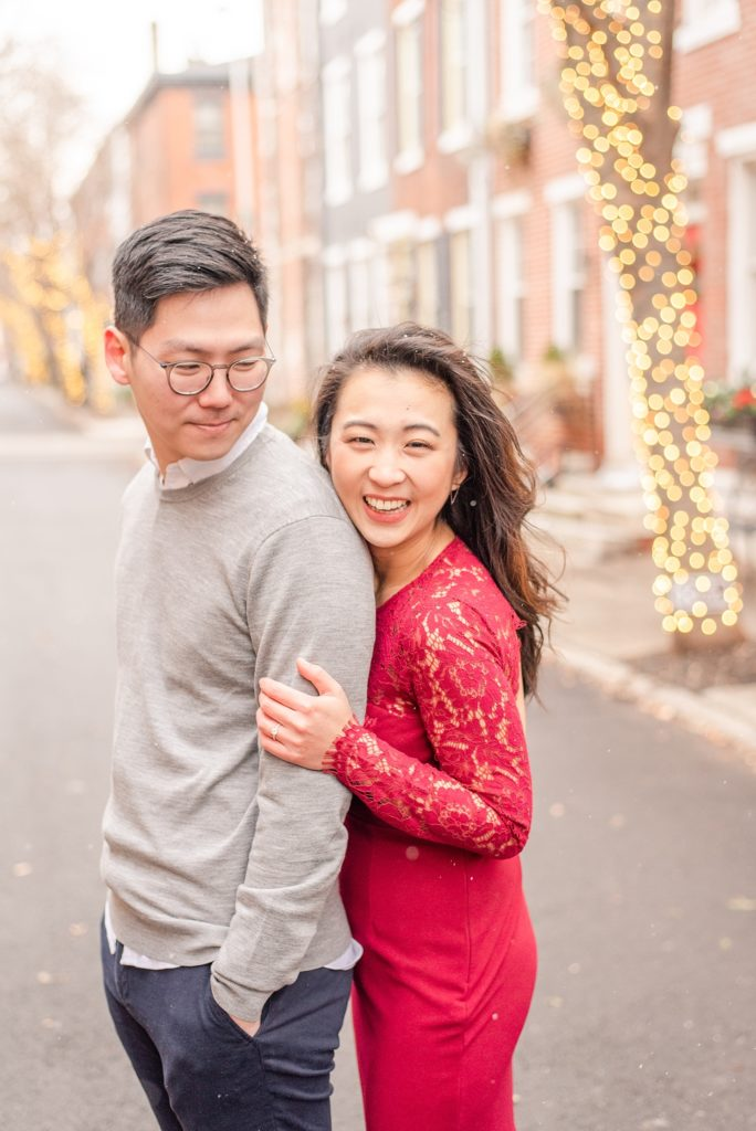 winter engagement photos by Renee Nicolo Photography in Philly PA
