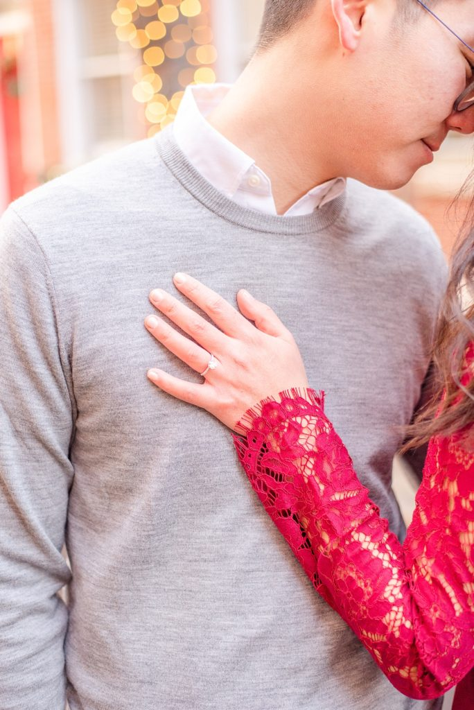 engagement portraits in the winter by Renee Nicolo Photography