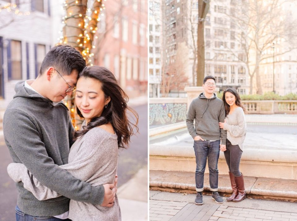wedding photographer Renee Nicolo Photography captures engagement photos in Philly PA