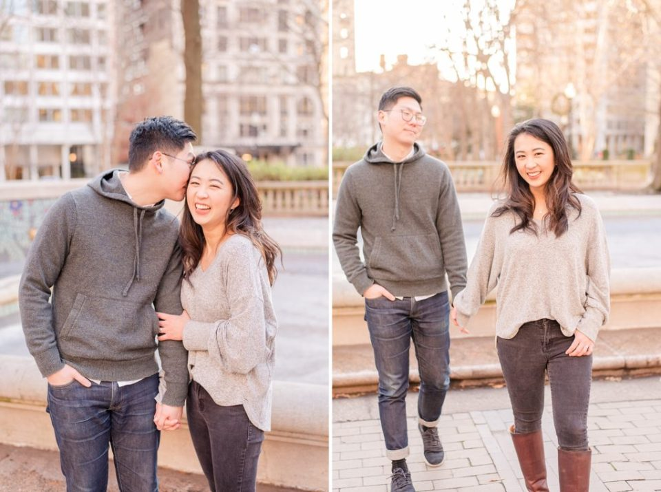 winter city engagement session by Renee Nicolo Photography