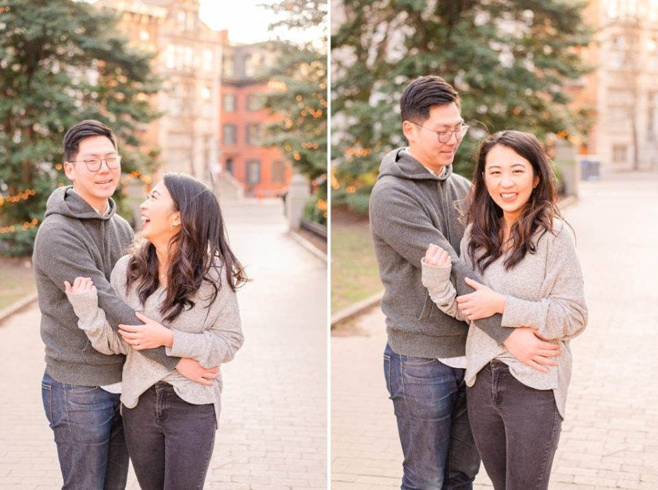 casual engagement portraits in the city by Renee Nicolo Photography