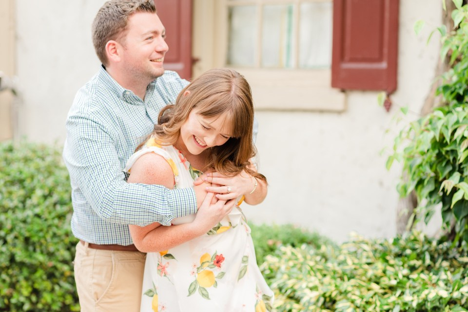 couple laughs during PA engagement session with Renee Nicolo Photography