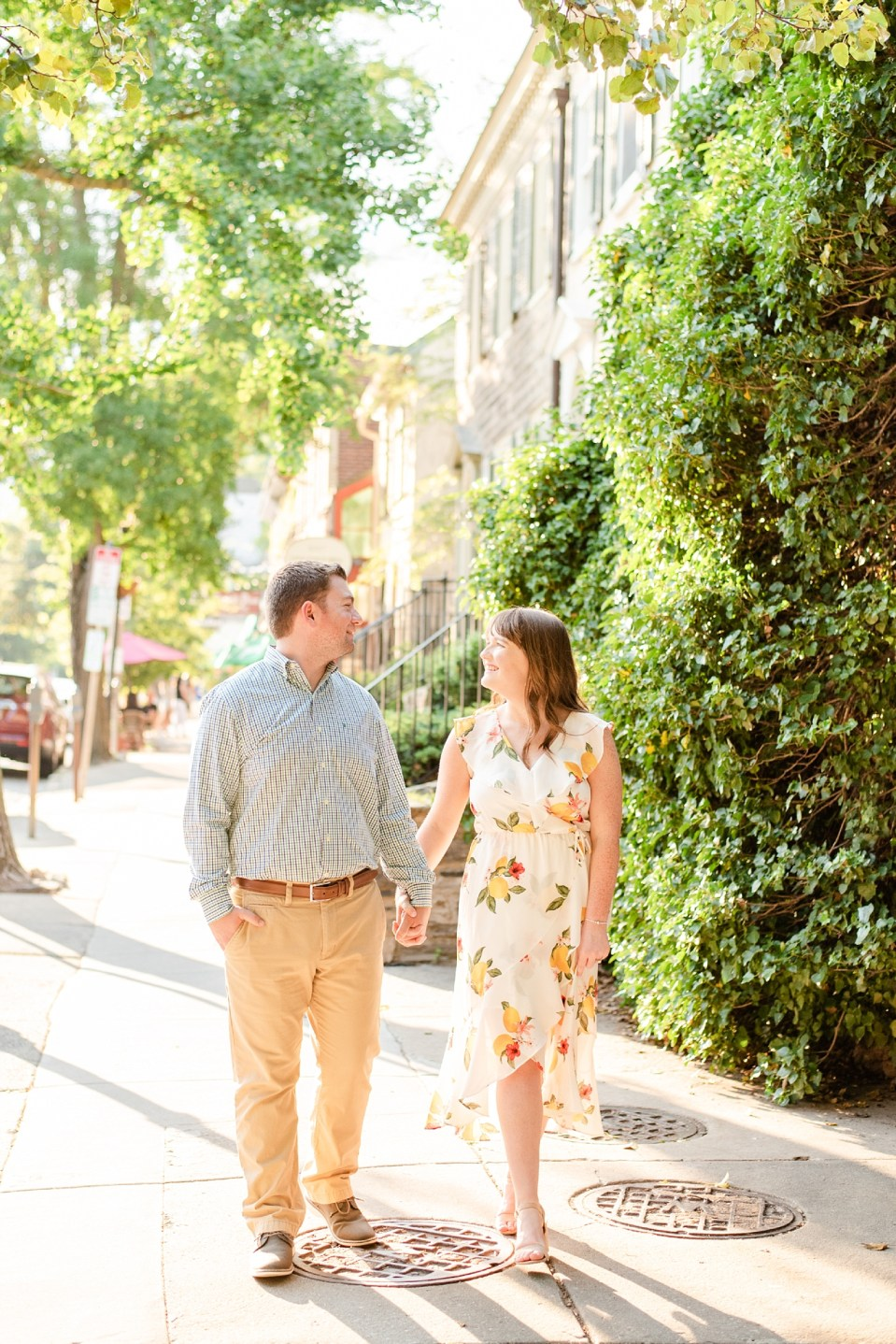 Renee Nicolo Photography photographs summer engagement session in Chestnut Hill