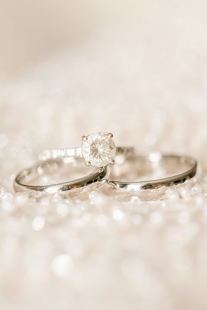 rings rest on dress photographed by Renee Nicolo Photography