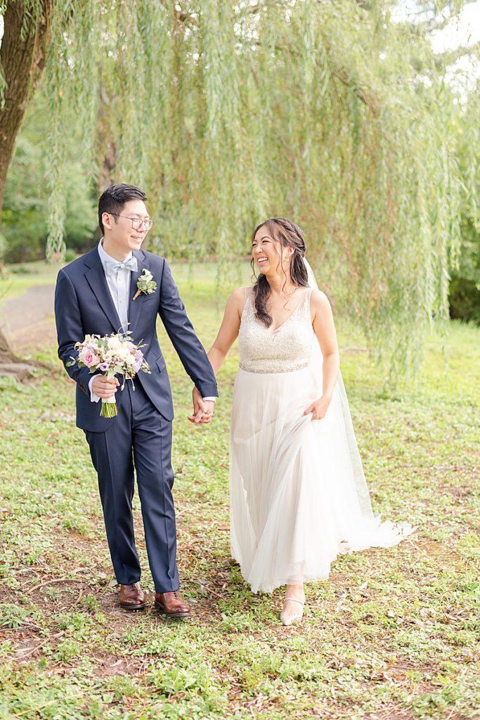 Cooper Pond Park wedding portraits of bride and groom