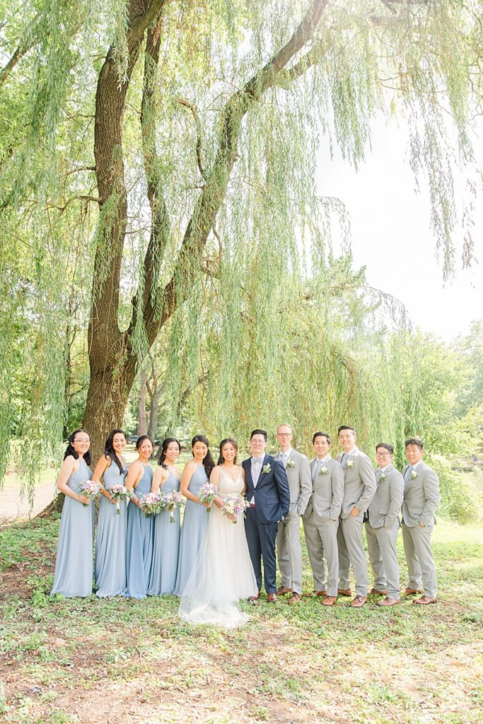 wedding party portraits in New Jersey