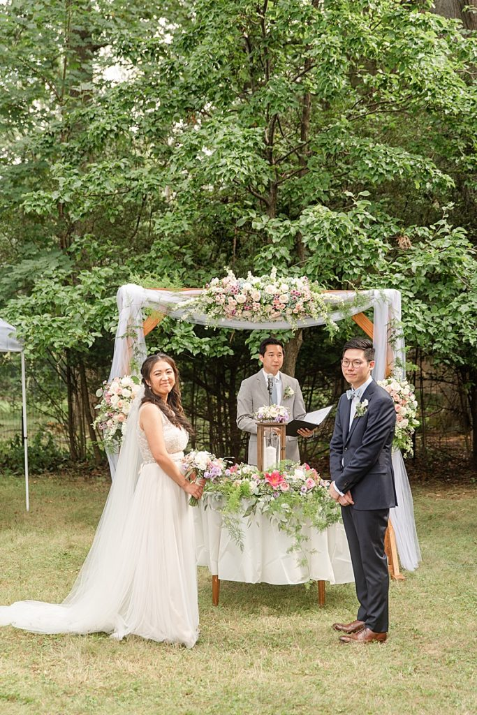 wedding ceremony at home in New Milford NJ