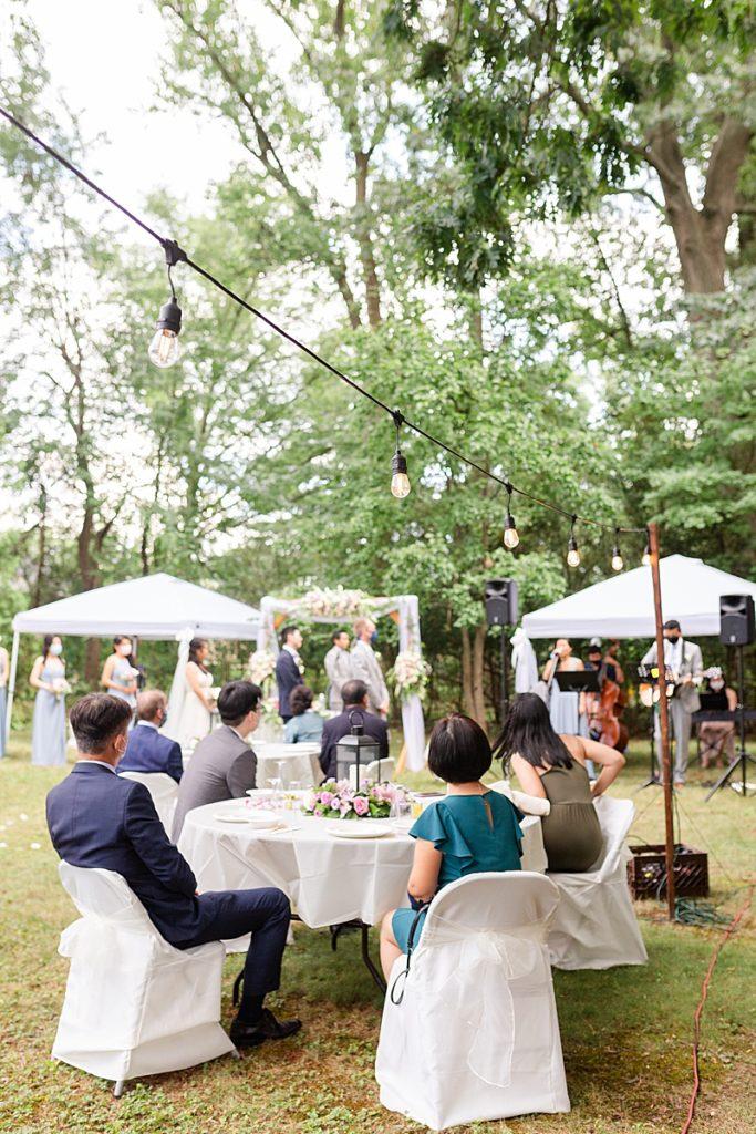 NJ backyard wedding ceremony during COVID-19