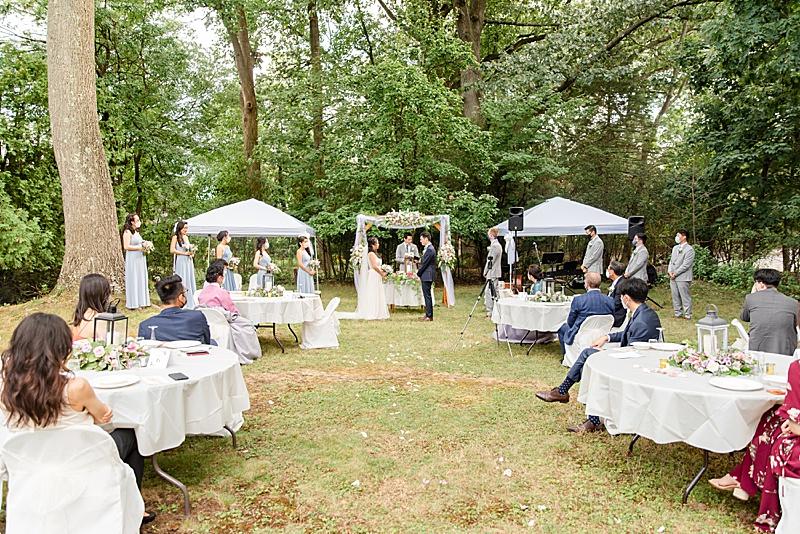 NJ backyard wedding ceremony