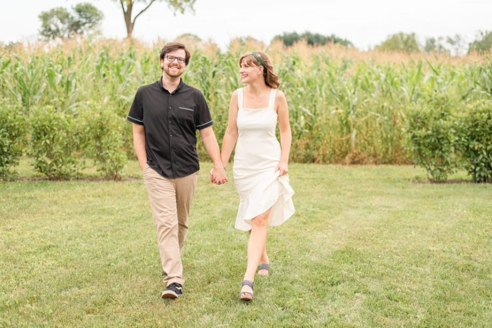 summer engagement session at Historic Stonebrook Farm