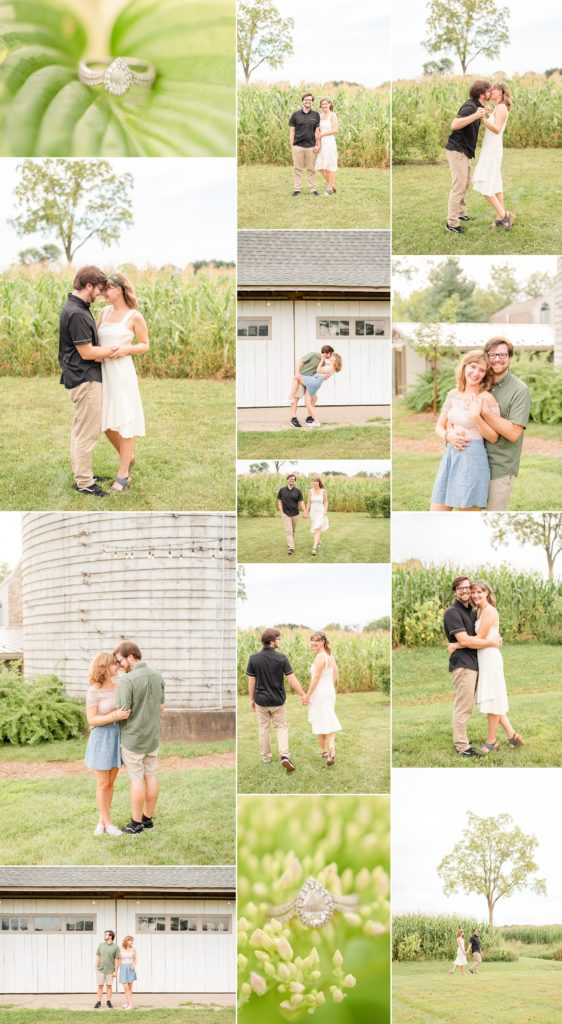 Historic Stonebrook Farm Engagement Session in the summer with Pennsylvania wedding photographer Renee Nicolo Photography