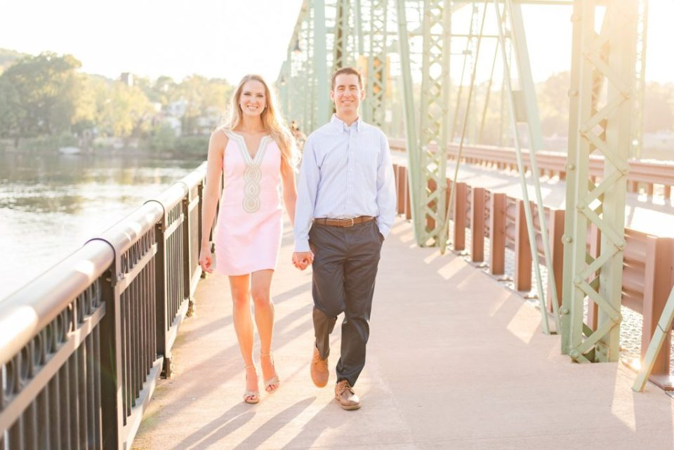 summer engagement portraits in New Hope PA