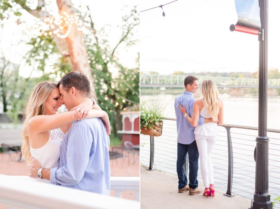 Renee Nicolo Photography captures portraits of couple by twinkling lights