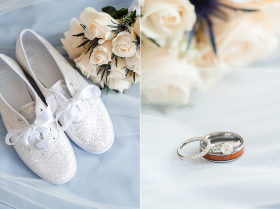 bride's details  for Graeme Park Wedding in PA photographed by Renee Nicolo Photography