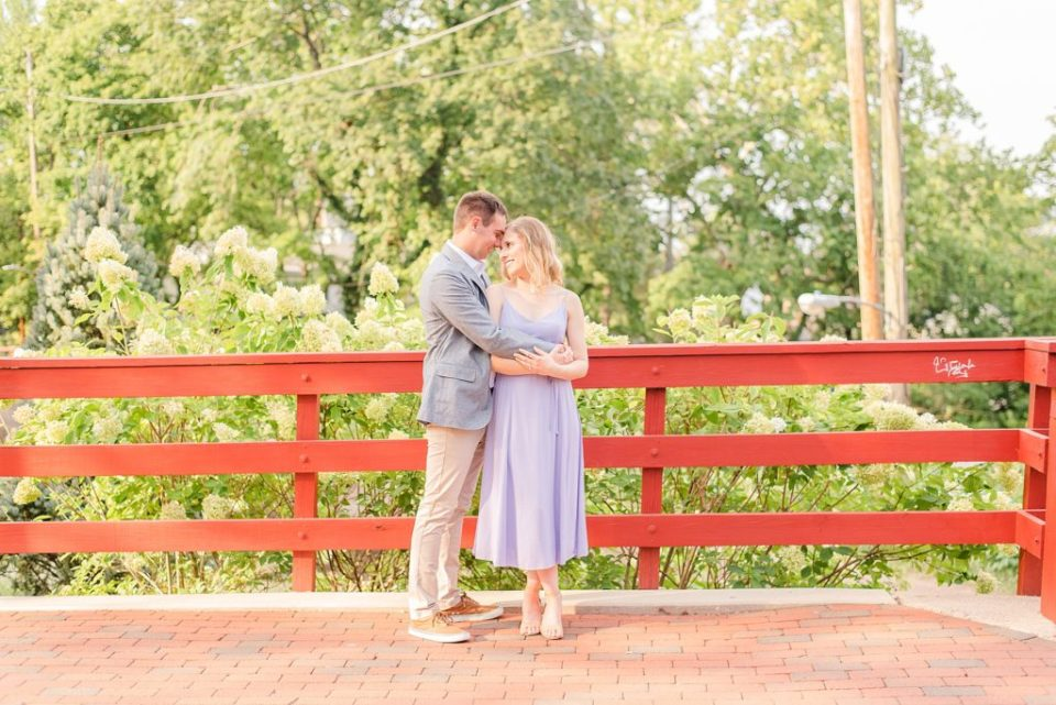 engagement session in PA town