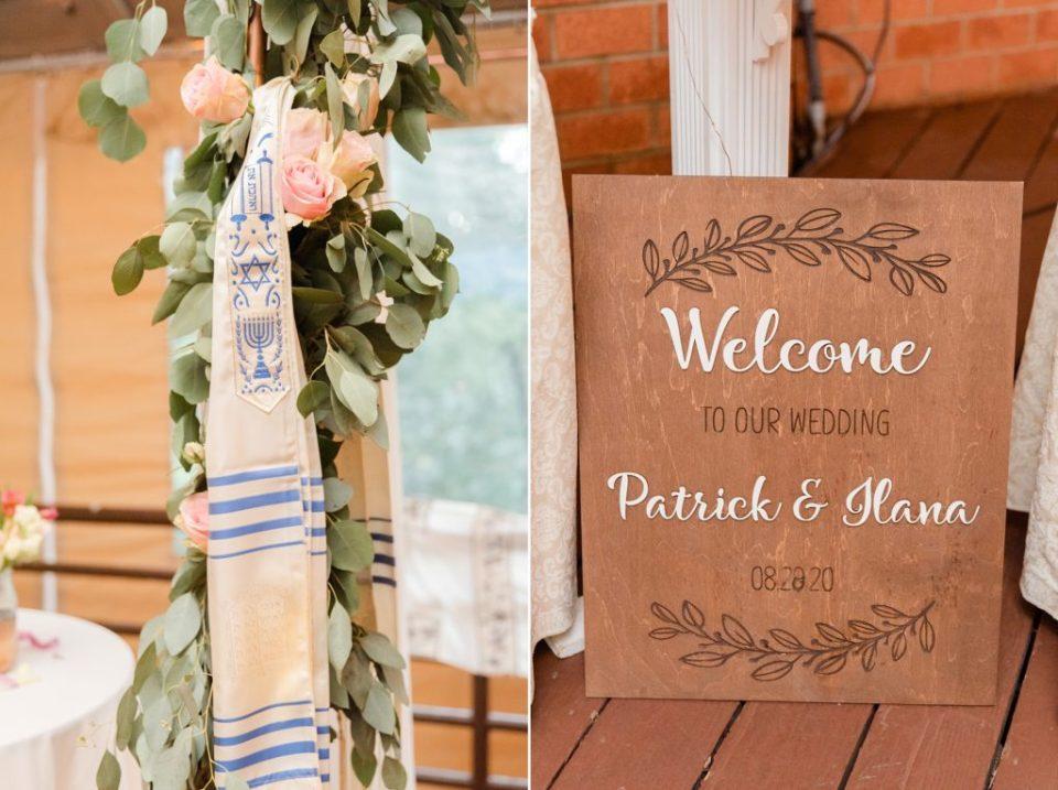 ceremony details for Jewish wedding day