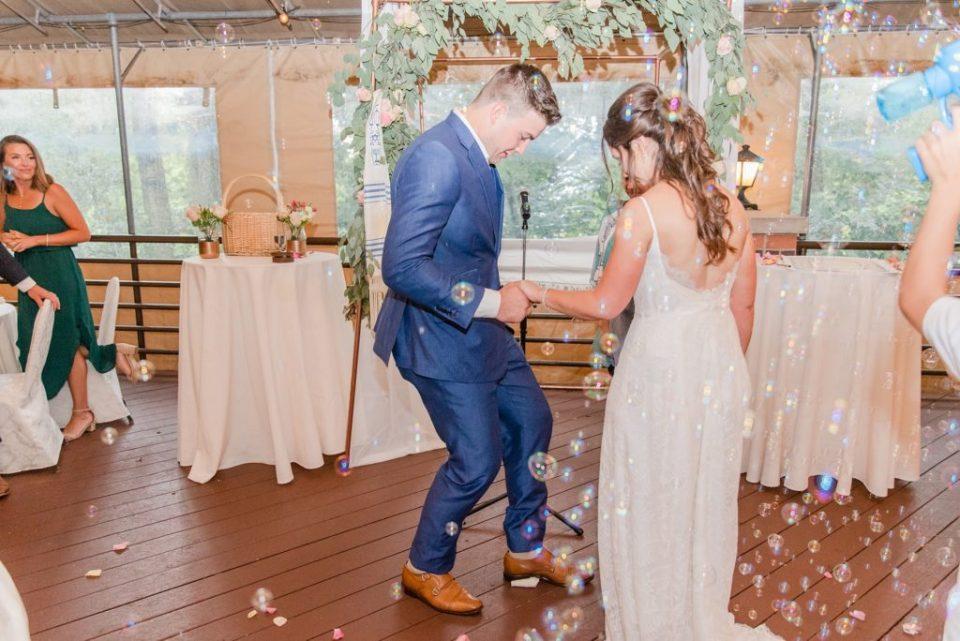 glass breaking during Jewish wedding ceremony