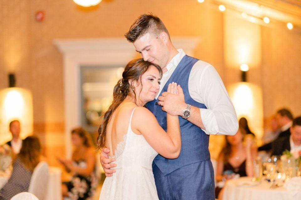 bride and groom dance at the Desmond Hotel Malvern