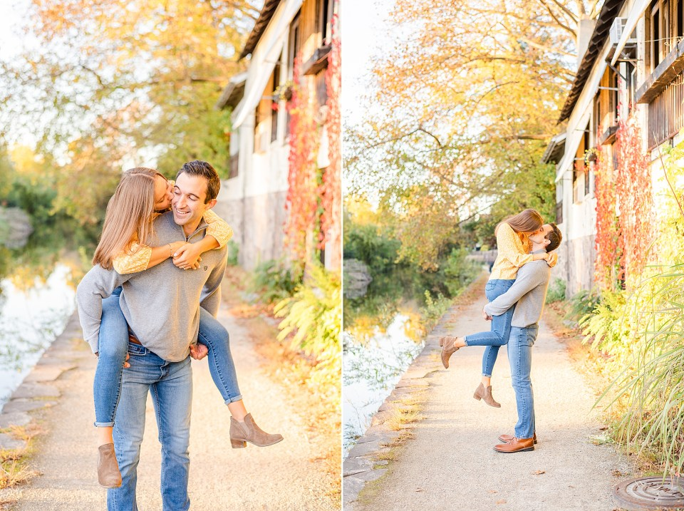 fall engagement portraits in New Hope PA