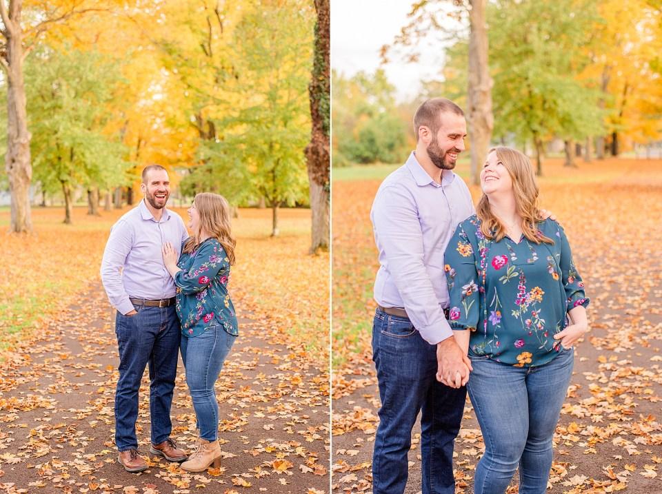 Pennsylvania fall engagement photos