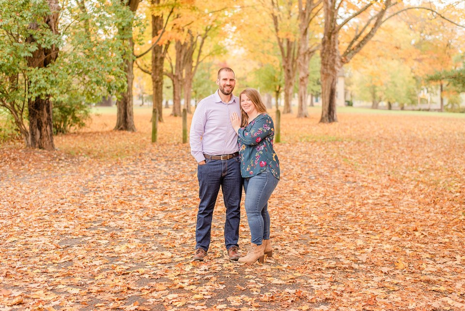 Washington Crossing Historic Park engagement session in the fall