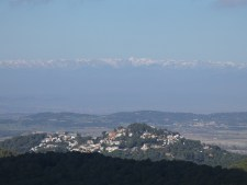 View over the Pyrenees from Begur