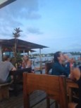 Many restaurants line the water in Bocas