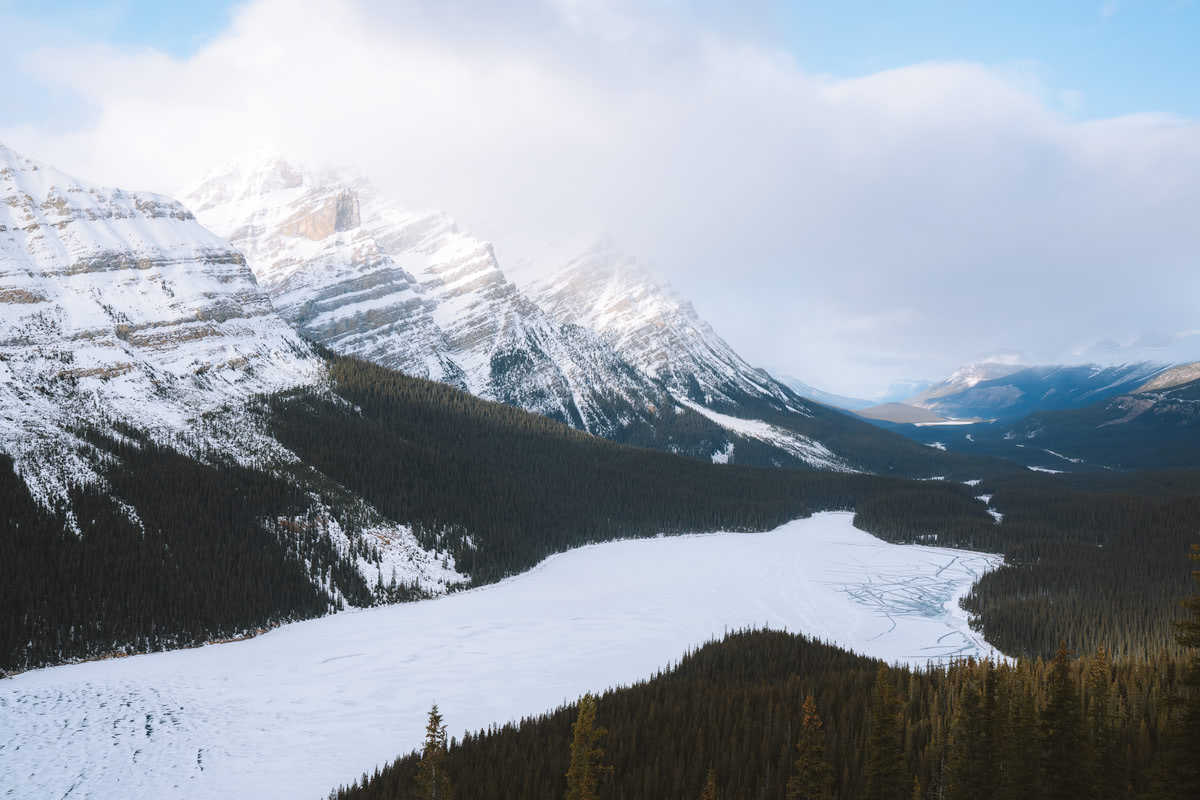 Planning a Trip to Banff in Winter - Icefields Parkway Peyto Lake - Renee Roaming