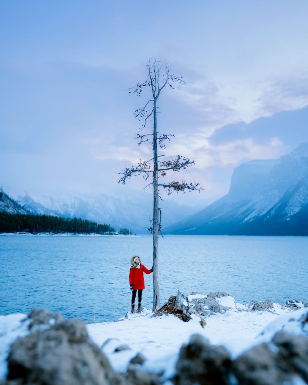 Planning a Trip to Banff in Winter - Lake Minnewanka - Renee-Roaming