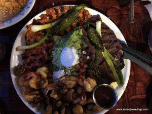 Our dinnertime fajita platter-yum!