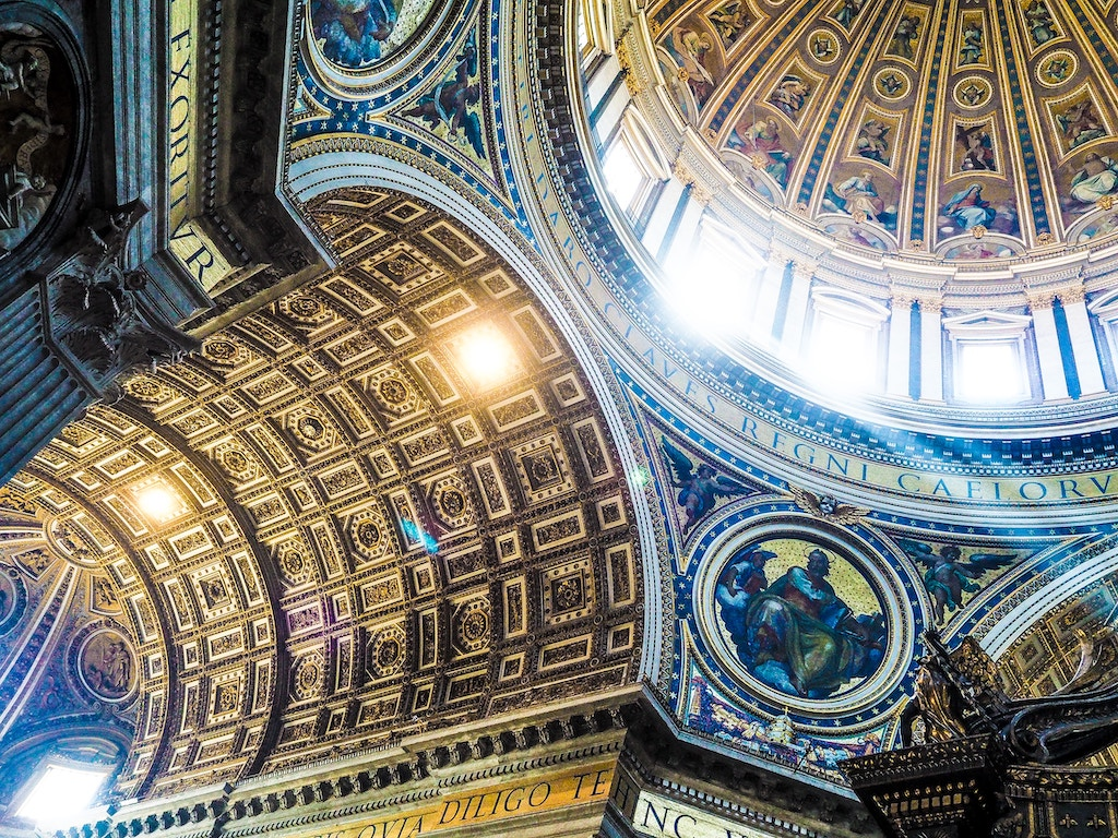 Ceilings at St. Peter's Basilica