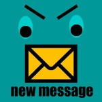 angry bird message