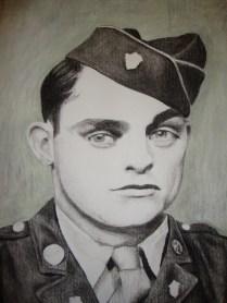 Charcoal portrait close up