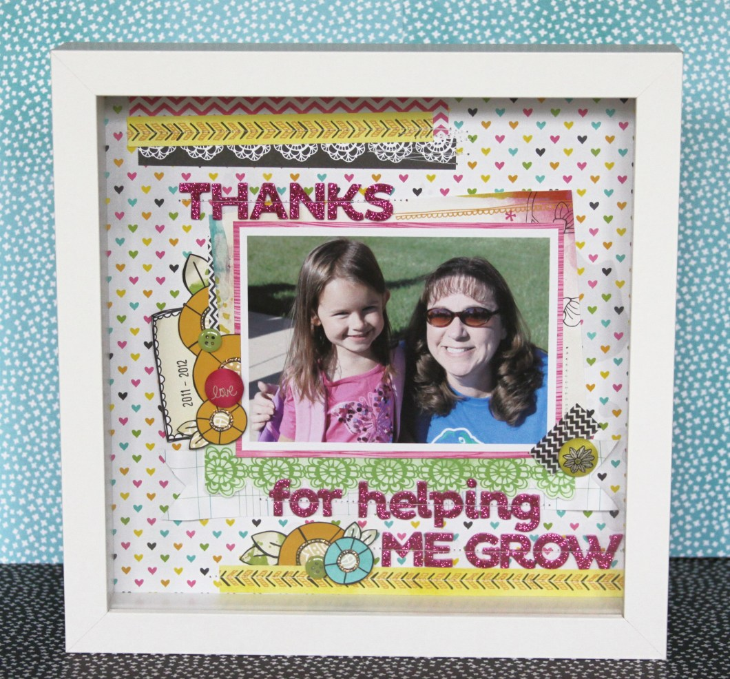 Thank you for helping me grow picture frame