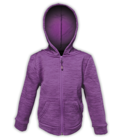purple sports kids jacket for embroidery hooded