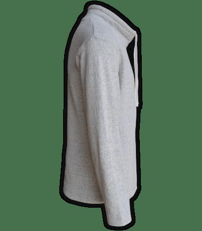 Renegade Club Unisex Fleece Pullover, womens sweatshirt, mens sweatshirt, nantucket soft fleece, salt and pepper, white, gray, side