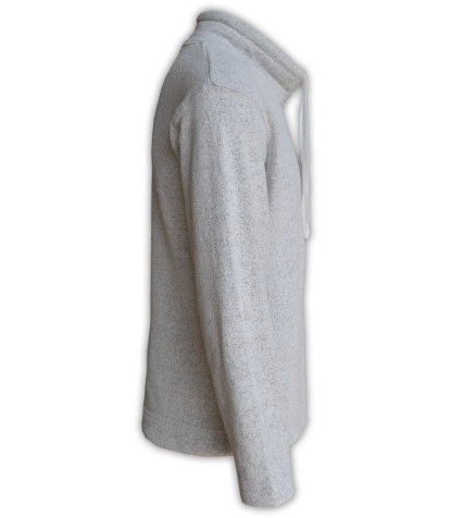 Renegade Club Unisex Fleece Pullover, womens sweatshirt, mens sweatshirt, nantucket soft fleece, salt and pepper, white, gray, side
