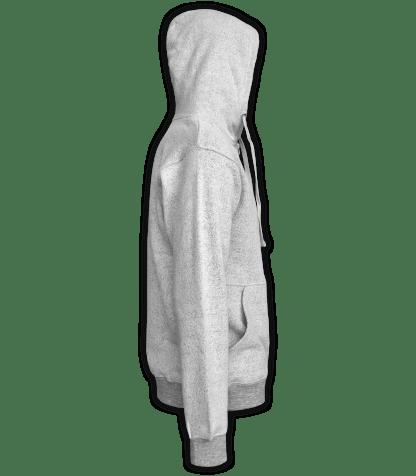 Renegade Club Full Zip Jacket nantucket fleece, womens fleece, mens fleece, unisex, soft jacket, salt and pepper, gray, white, side