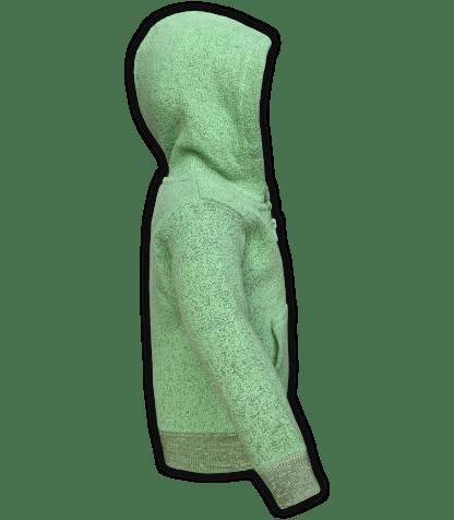 renegade-club-kids-jacket-nantucket-fleece-infant-toddler-fleece jacket, full zip, lime, green, side