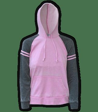 renegade club wholesale fleece pullover sweatshirt, hooded, stripes, pink, gray