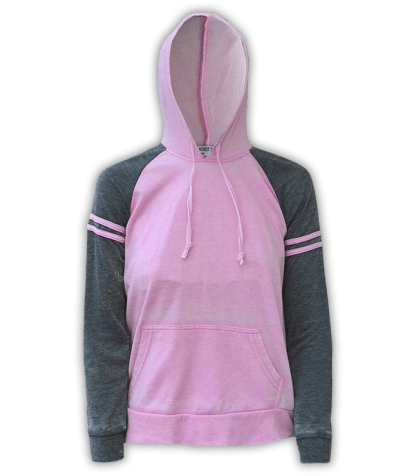 renegade club wholesale fleece pullover sweatshirt, hooded, stripes, pink, gray