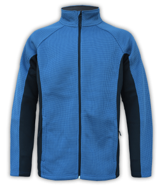 Renegade-club-mens-full-zip-fleece-coarse-weave-blue-black-ski-jacket