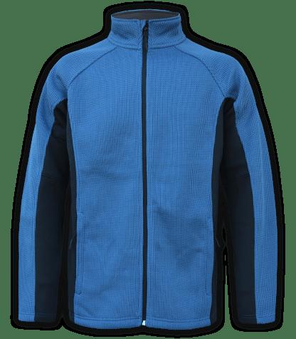Renegade-club-mens-full-zip-fleece-coarse-weave-blue-black-ski-jacket