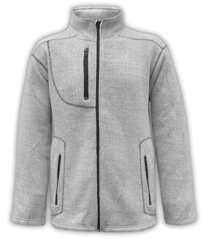 Renegade club unisex fleece jacket, full zip, nantucket soft fleece, mens jacket, womens jacket, salt and pepper, white, gray
