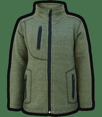 renegade club youth jacket, nantucket fleece, olive, green, pockets, zipper, full zip, kids fleece jacket, outerwear