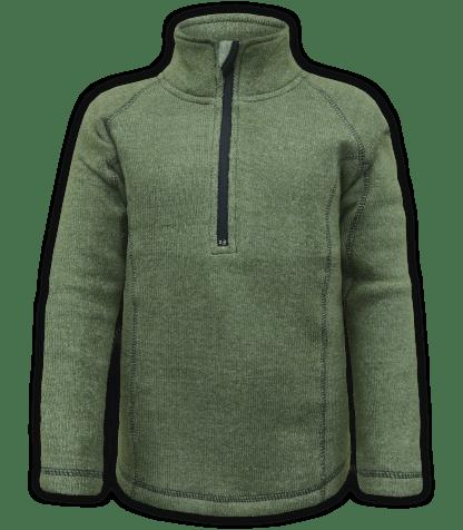 renegade club youth pullover, nantucket fleece, olive, green, zipper, half zip, quarter zip, kids fleece pullover, outerwear