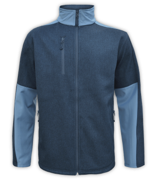 Renegade-club-mens-fleece-jacket-full zip-woven-soft-shell-soft lining- blue-zip-pockets
