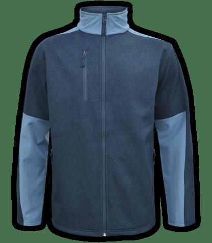 Renegade-club-mens-fleece-jacket-full zip-woven-soft-shell-soft lining- blue-zip-pockets